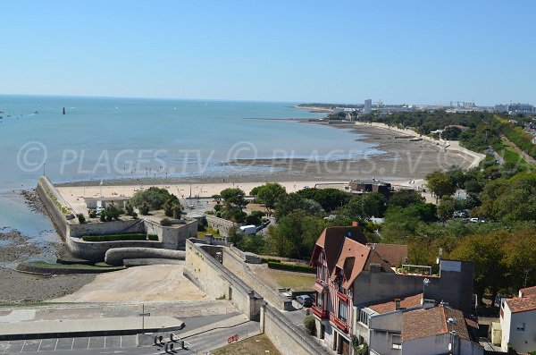 Concurrence beach in La Rochelle in France