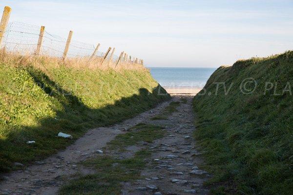 Sentier pour les falaises des confessionnaux