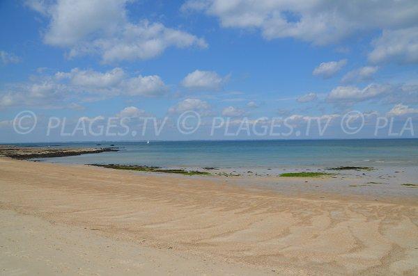 Photo de la plage du Conguel sur la presqu'ile de Quiberon