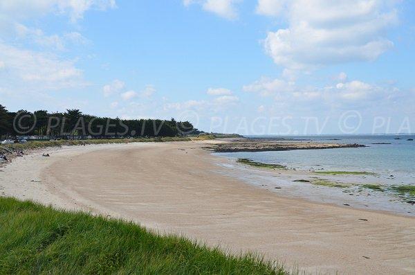 Photo de la plage Sud du Conguel sur la presqu'ile de Quiberon