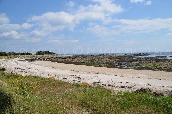 Rochers sur la plage sud de Quiberon