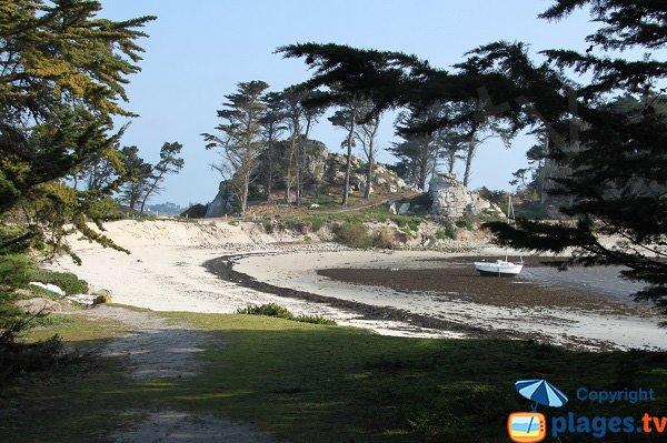 Beach of Perharidi peninsula - Roscoff