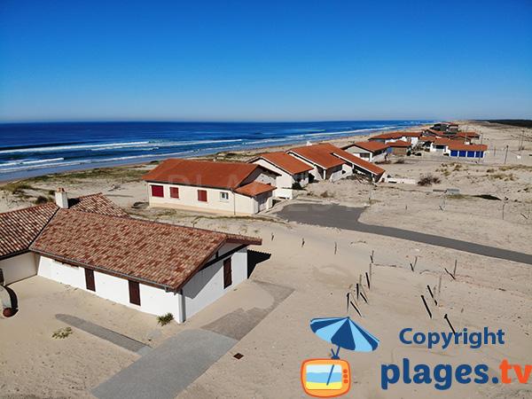 Maisons sur la dune de Contis