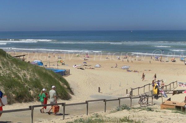 L'accesso alla spiaggia di Contis