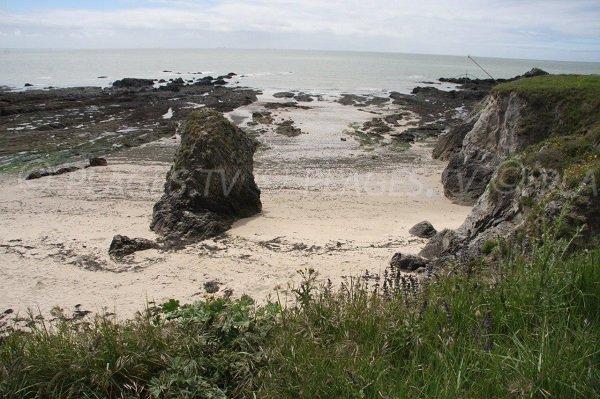 Costa selvaggia alla spiaggia di Convert in Pouliguen