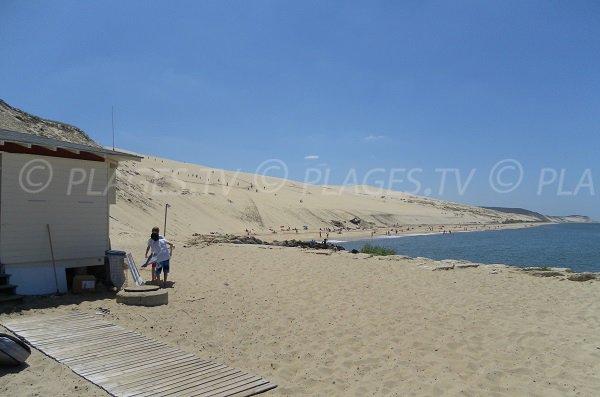 Photo de la plage de la Dune du Pilat depuis le poste de secours