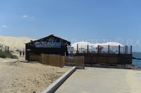 Snack à proximité de la plage de la Dune du Pilat