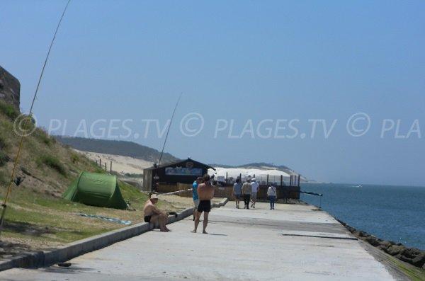Chemin d'accès à la plage de la Dune du Pilat