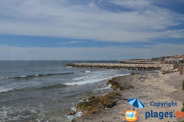 Spiaggia della Corniche a Sausset - Francia