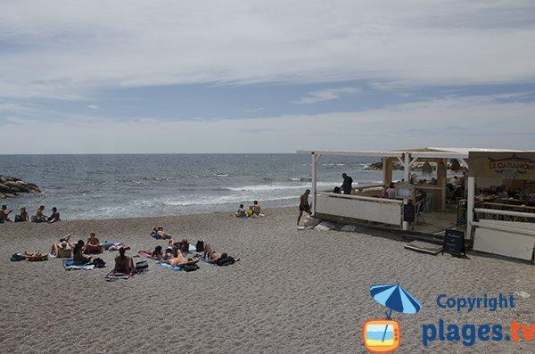 Restaurant sur la plage de Sausset les Pins