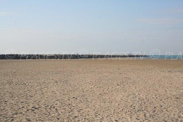 Plage publique de Sète sur la Corniche