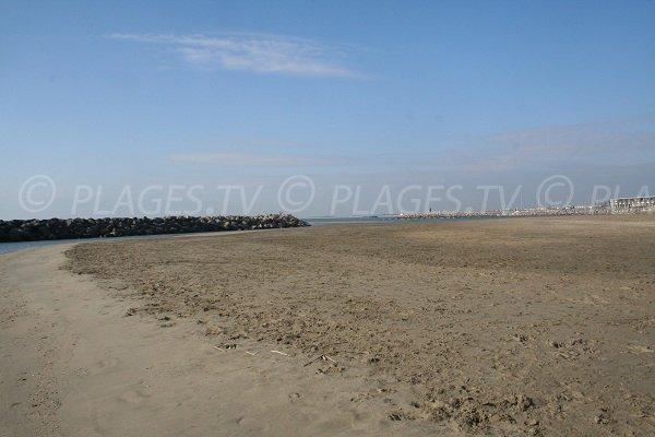 Plage de sable à Sète sur la Corniche