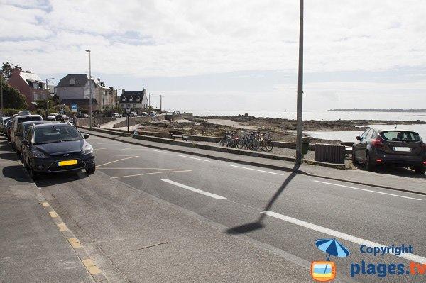 Parking de la plage de Cornouaille à Concarneau