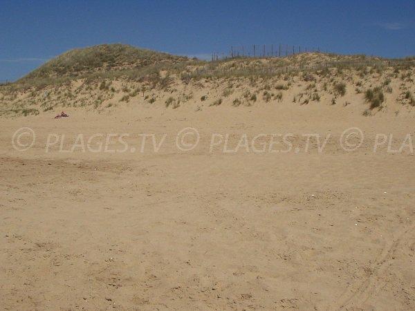 Dune of Corps de Garde beach in La Tranche sur Mer