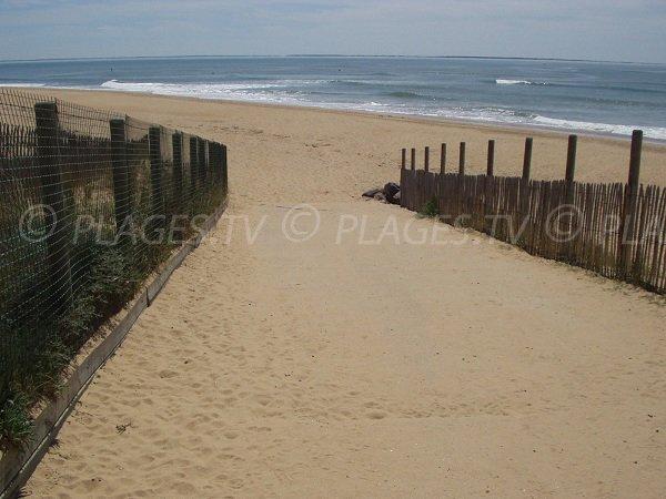 End of access of Grouin du Cou beach in La Tranche sur Mer