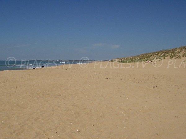 Corps de Garde beach in La Tranche sur Mer in France
