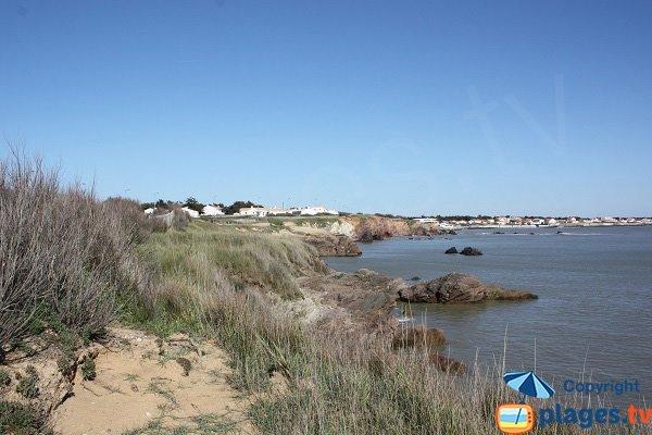 Coastline around Corque cove - from north to south - Brétignolles sur Mer