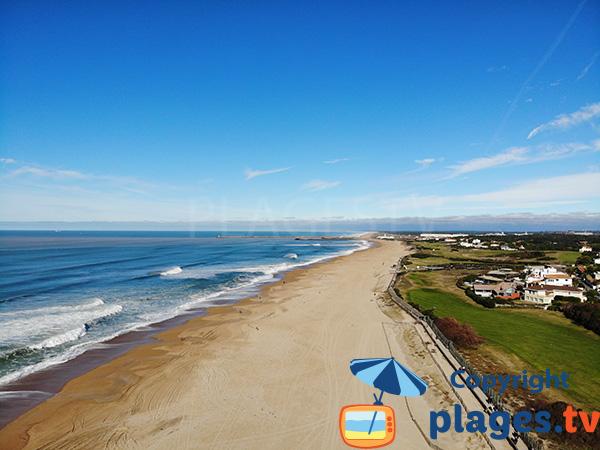Photo de la plage du Corsaire à Anglet