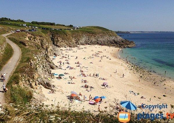 Photo de la plage de Corsen à Plouarzel en Bretagne