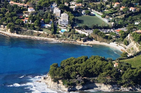 Corton beach of Cassis in France