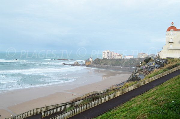 Access to Cote des Basques beach in Biarritz