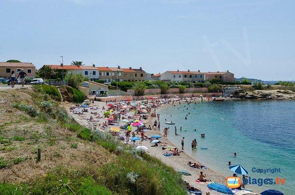 Spiaggia della Coudoulière in estate - Six-Fours-les-Plages