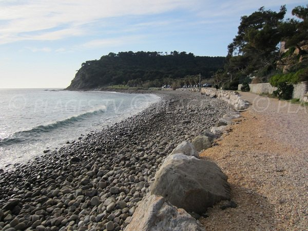Coastal path of Coudoulière beach in St Mandrier - France
