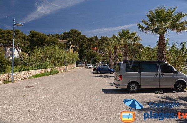 Parking de la plage de la Coudoulière à Saint Mandrier