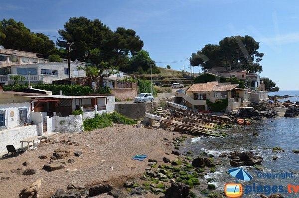 Confidential beach in Carqueiranne in France