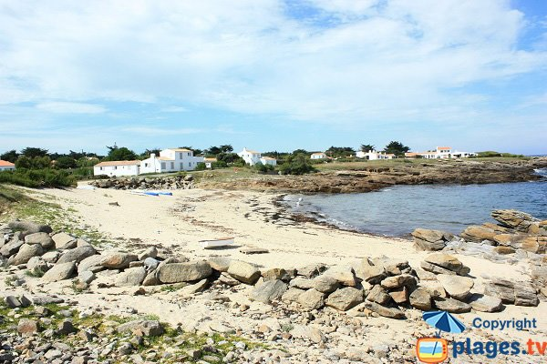 Cours du Moulin Beach in Ile d'Yeu in France