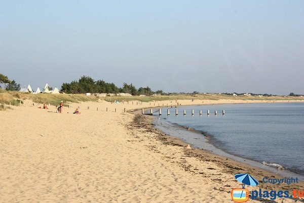 Court beach in Noirmoutier in France