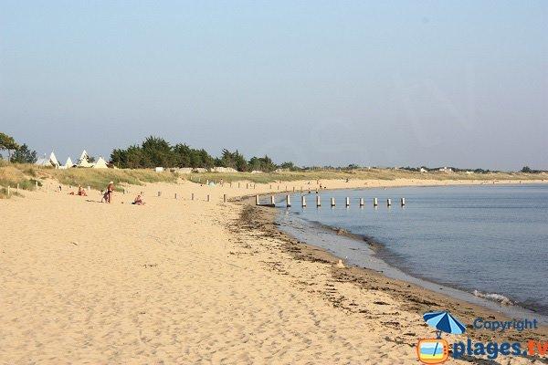 Court beach in Noirmoutier in France
