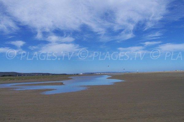 Etendue de sable sur la plage des Coussoules - La Franqui, Leucate