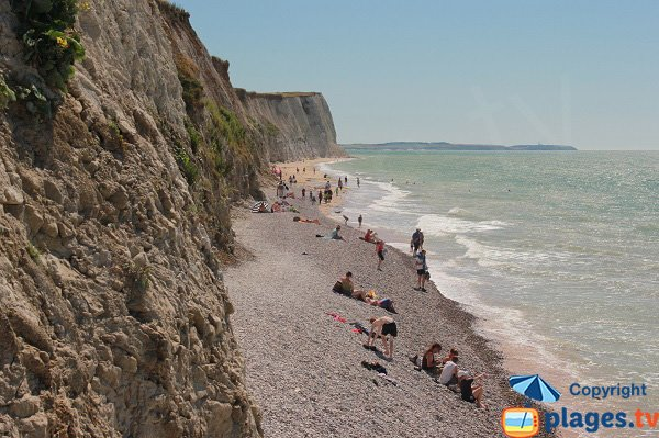 Beach in Cran of Escalles in France