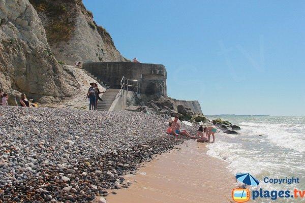 Plage de sable au Cap Blanc Nez - Escalles