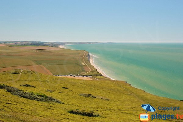 Photo de la plage du Cran d'Escalles dans le nord