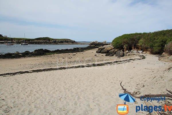 Photo de la plage du Crapaud à Lanildut en Bretagne