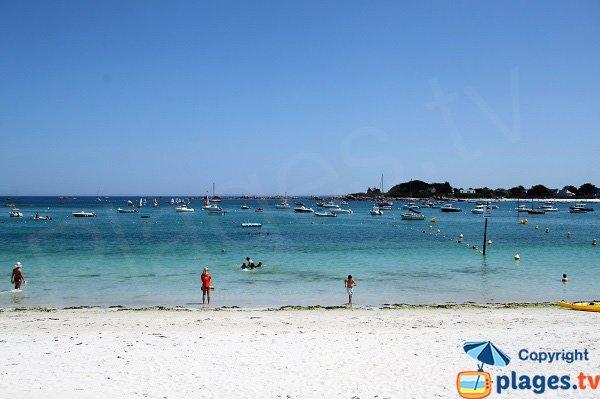 Supervised beach in Brignogan-Plage in France