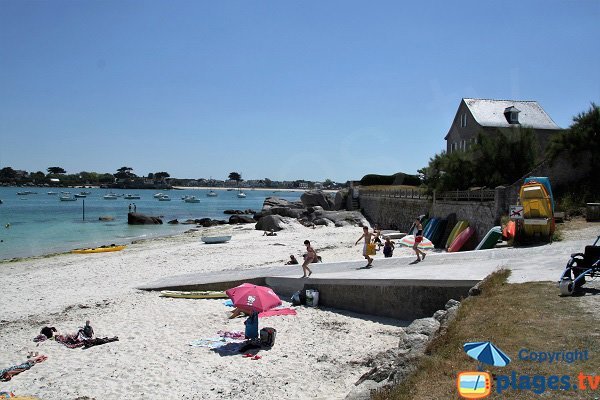 Ramp of Crapauds beach in Brignogan in Brittany