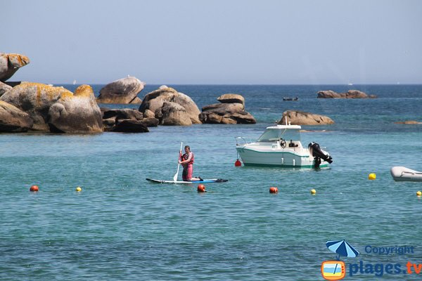 stand up paddle à Brignogan-Plage