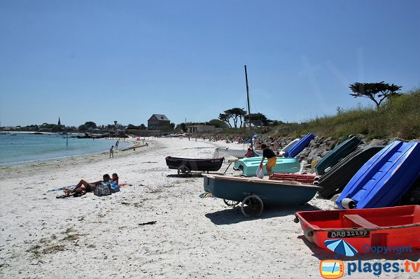 Crapauds beach in Brignogan