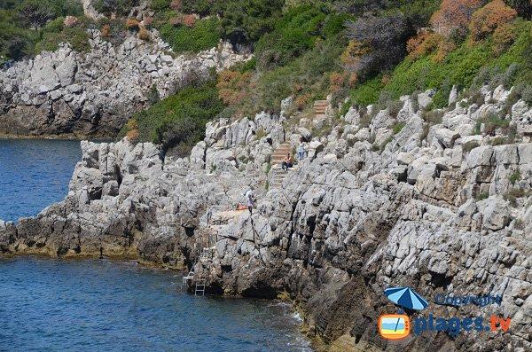 Stair of Crau Nao cove - St Jean Cap Ferrat