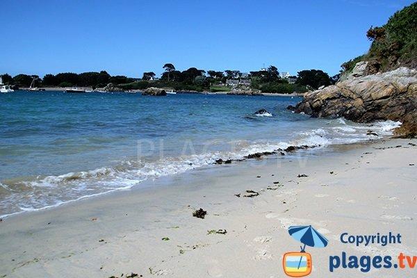 Photo de la plage de Crec'h Touric sur l'ile de Bréhat - Bretagne