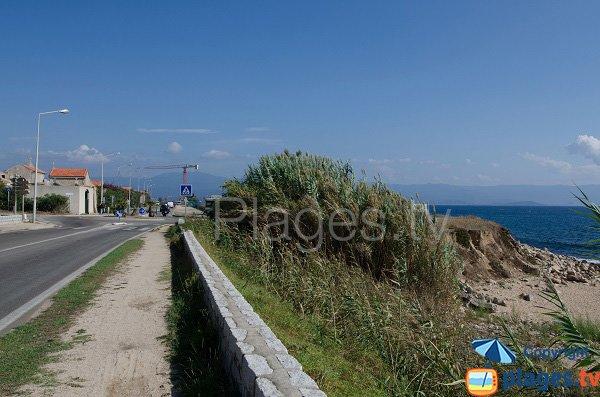 Environnement de la plage des Cretes à Ajaccio