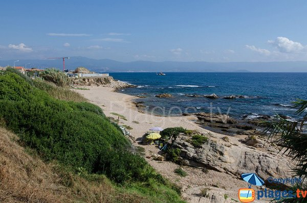 Photo de la plage des Crêtes à Ajaccio