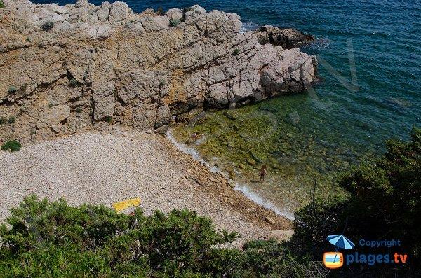 Plage next to Cride point in Sanary sur Mer