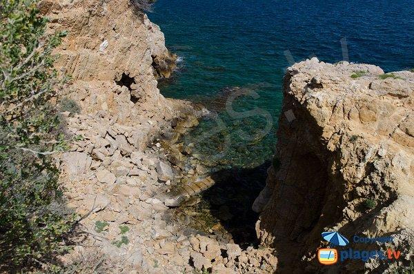 Small cove of Cride in Sanary