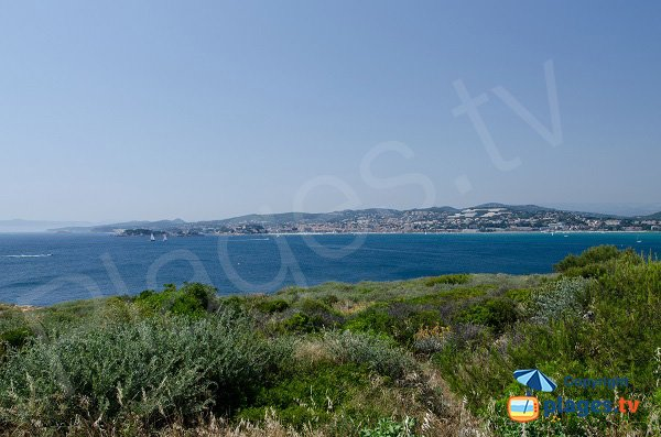 View on Bandol bay from Cride point