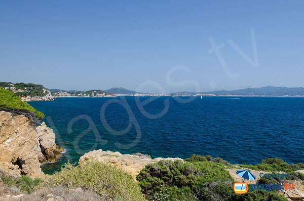 View on the bay of Sanary from Cride point