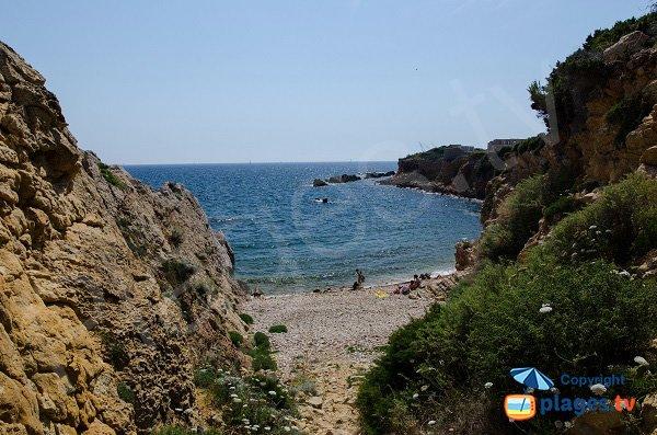 Photo Cride beach in Sanary sur Mer in France